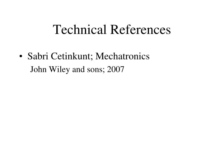 Technical References