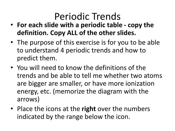 periodic trends n.