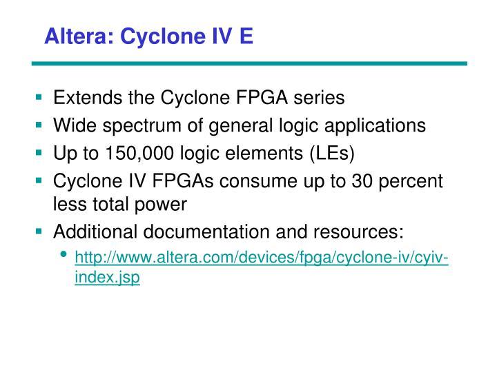 Altera: Cyclone IV E
