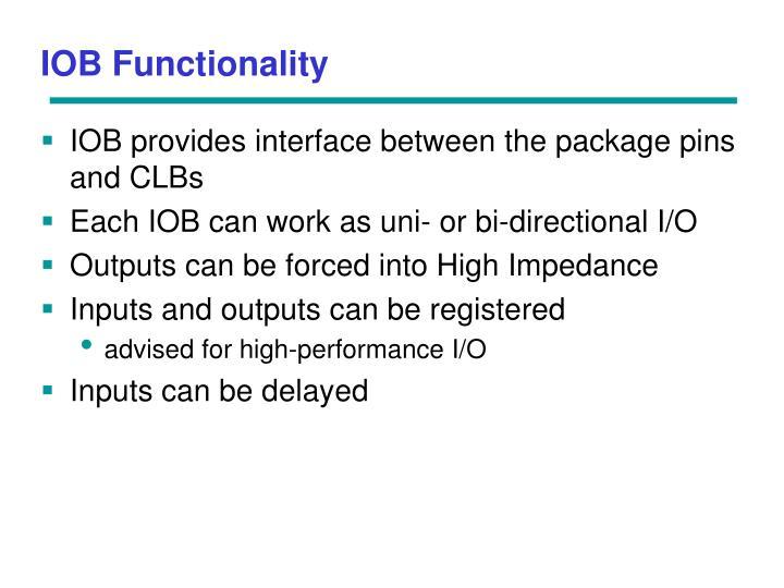IOB Functionality