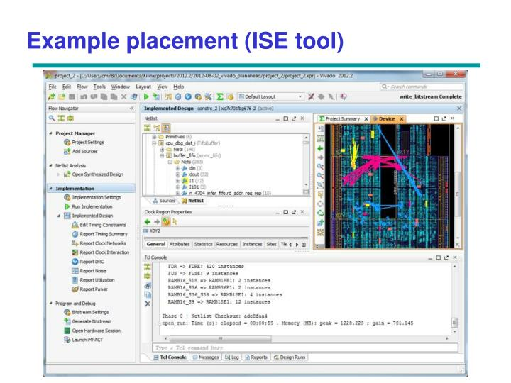 Example placement (ISE tool)