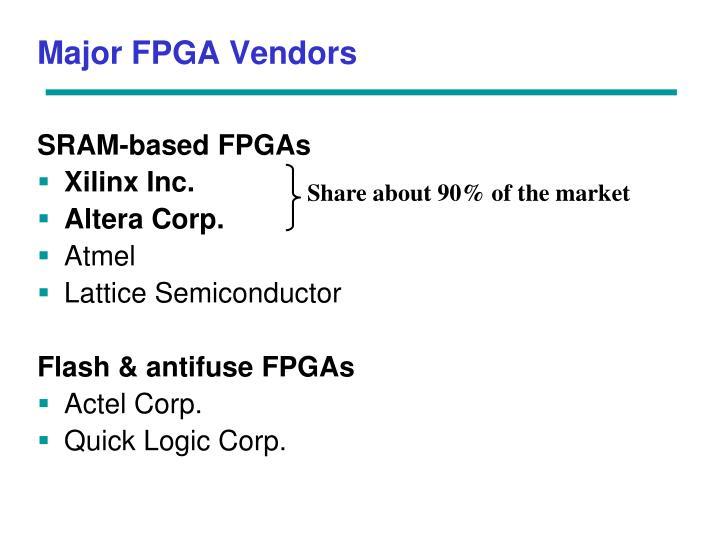 Major FPGA Vendors