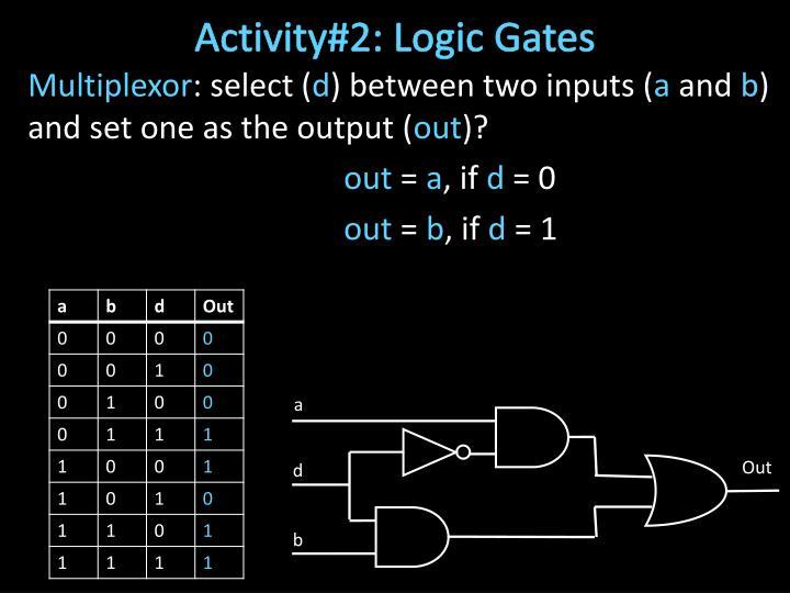 Activity#2: Logic Gates