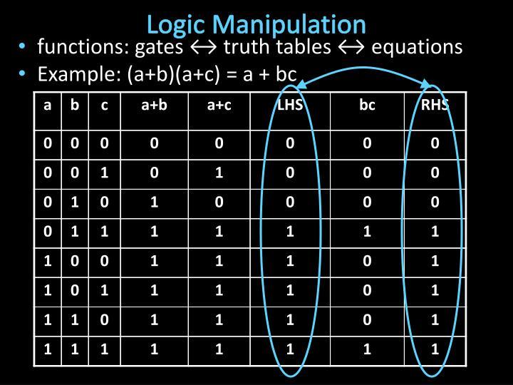 Logic Manipulation