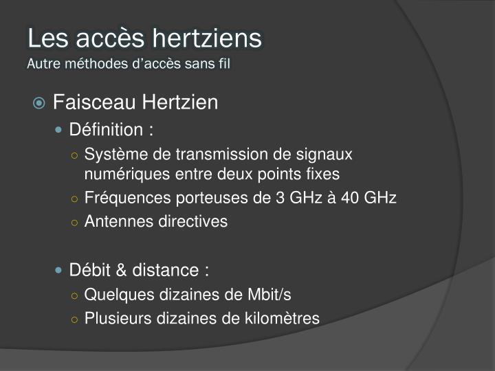 Les accès hertziens