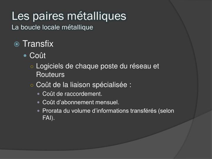 Les paires métalliques