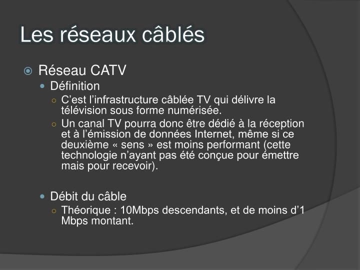 Les réseaux câblés