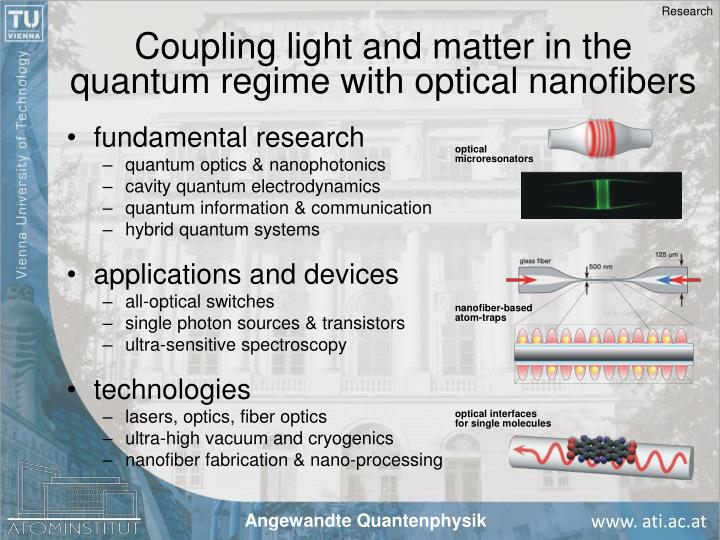 Coupling light and matter in the quantum regime with optical nanofibers