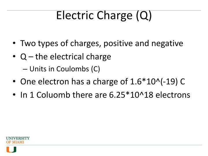 Electric Charge (Q)