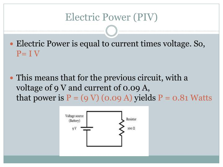 Electric Power (PIV)