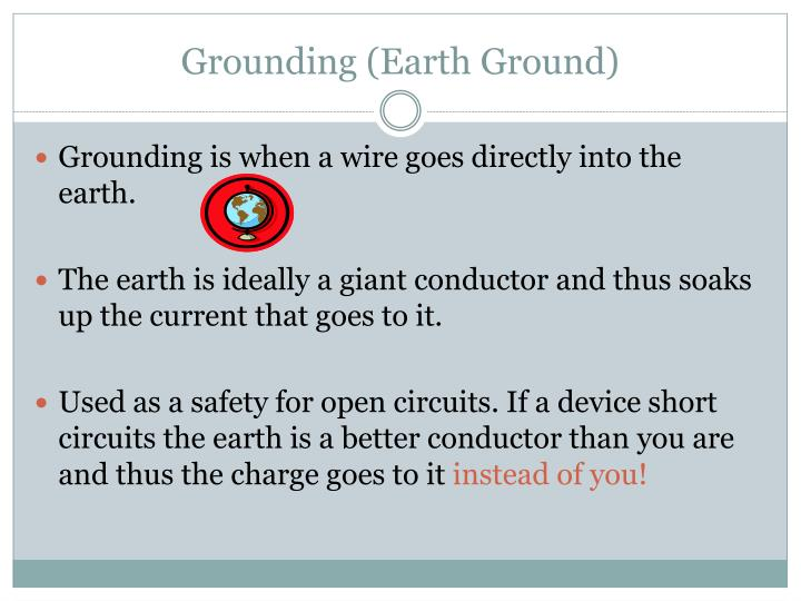 Grounding (Earth Ground)