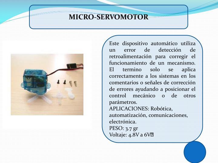 MICRO-SERVOMOTOR
