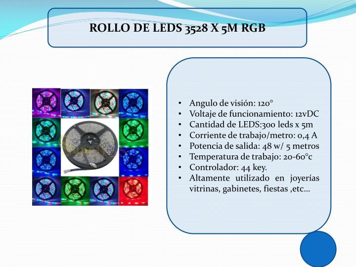 ROLLO DE LEDS