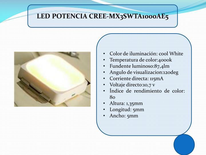 LED POTENCIA CREE-MX3SWTA1000AE5
