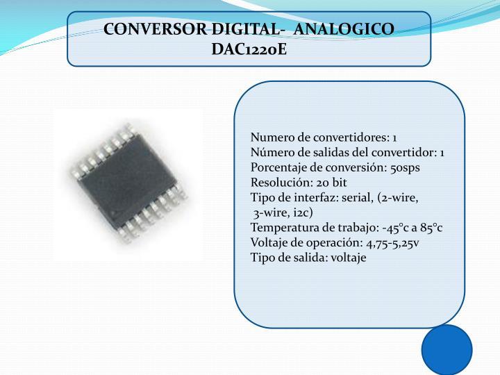 CONVERSOR DIGITAL-  ANALOGICO DAC1220E