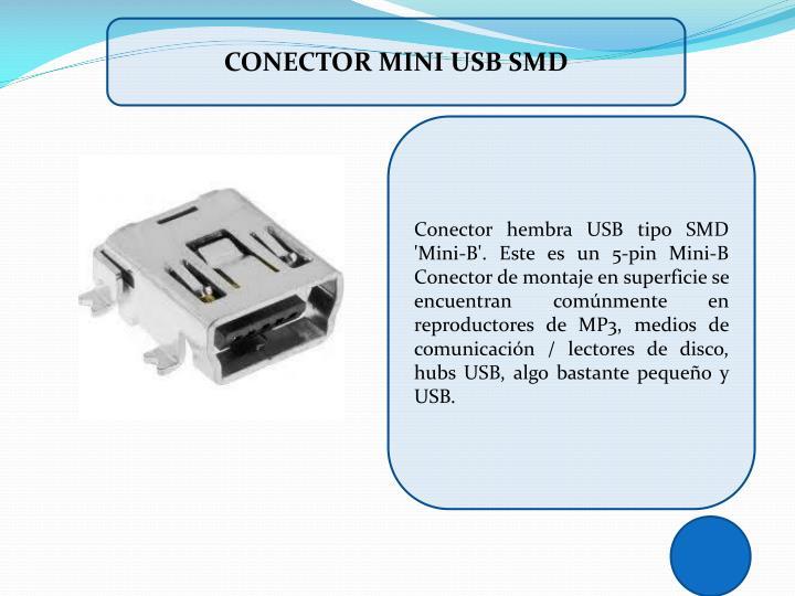 CONECTOR MINI USB SMD