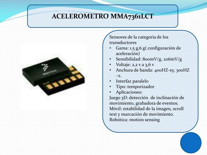 Acelerometro mma7361lct