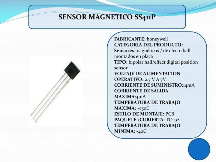 SENSOR MAGNETICO SS411P