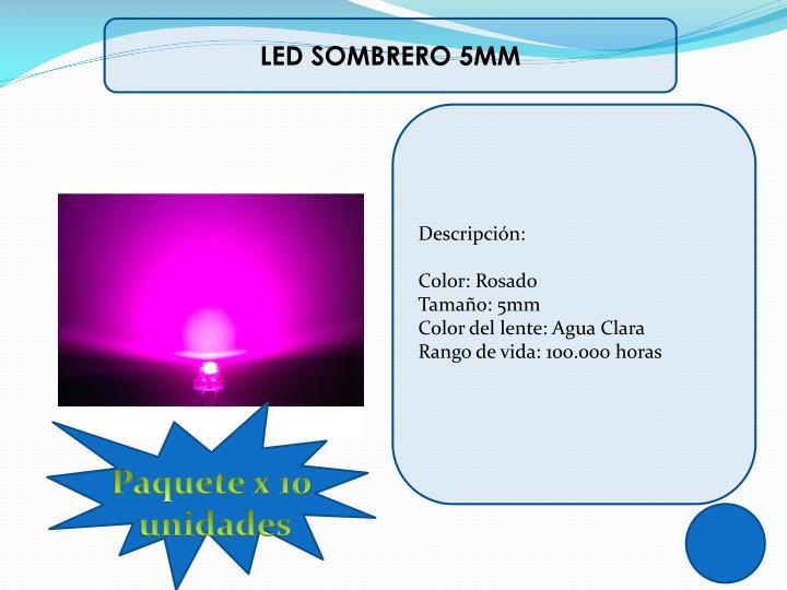 LED SOMBRERO 5MM