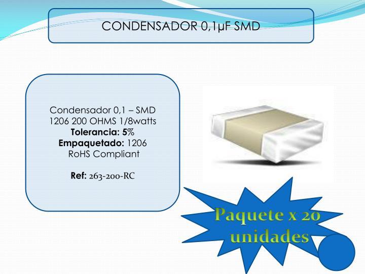 CONDENSADOR 0,1µF SMD