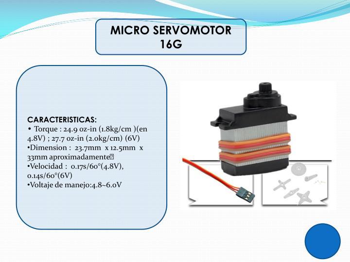 MICRO SERVOMOTOR 16G