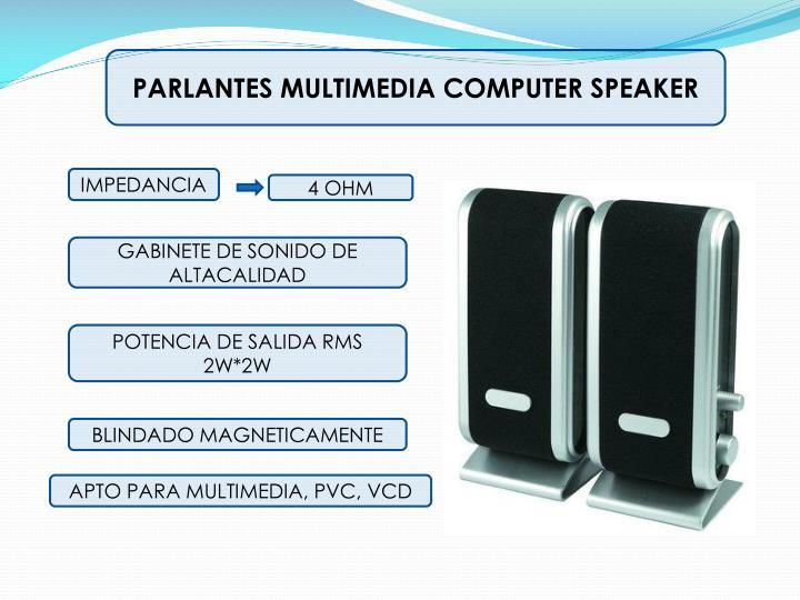 PARLANTES MULTIMEDIA COMPUTER SPEAKER