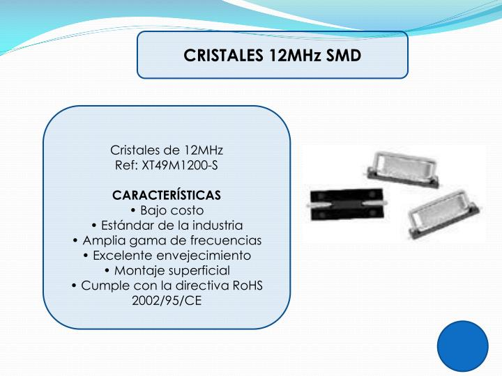 CRISTALES 12MHz SMD