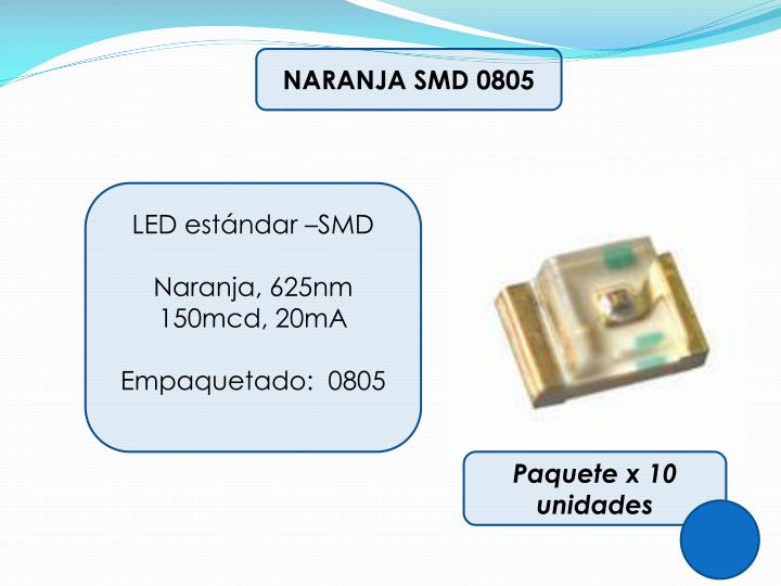 NARANJA SMD 0805