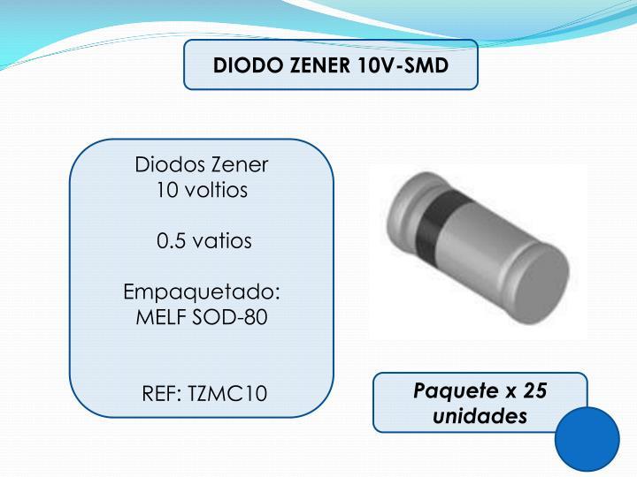 DIODO ZENER 10V-SMD