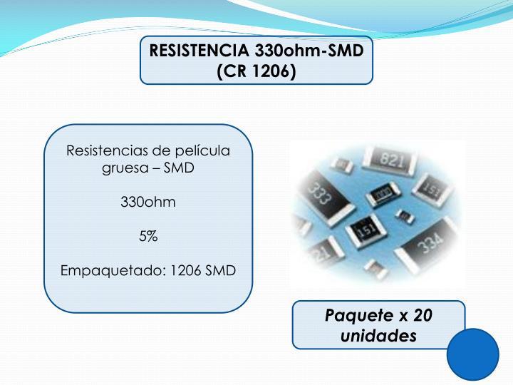 RESISTENCIA 330ohm-SMD