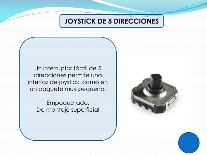 JOYSTICK DE 5 DIRECCIONES