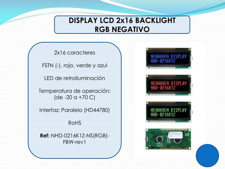 DISPLAY LCD 2x16 BACKLIGHT