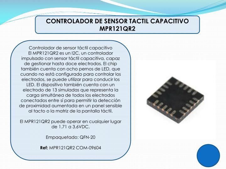 CONTROLADOR DE SENSOR TACTIL CAPACITIVO