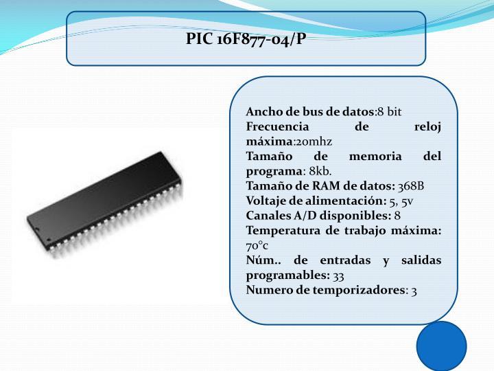PIC 16F877-04/P