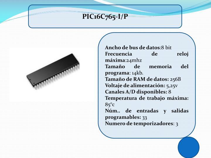 PIC16C765-I/P