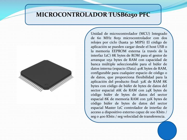 MICROCONTROLADOR TUSB6250 PFC