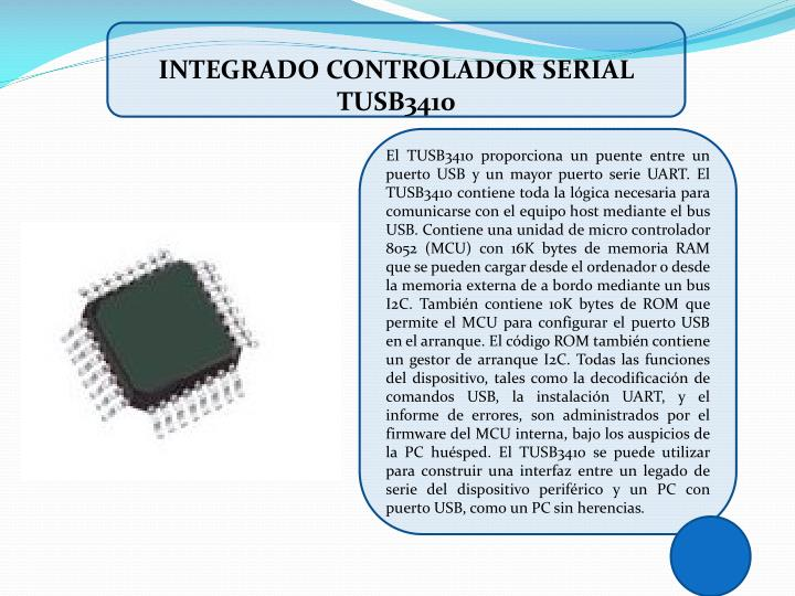 INTEGRADO CONTROLADOR SERIAL TUSB3410