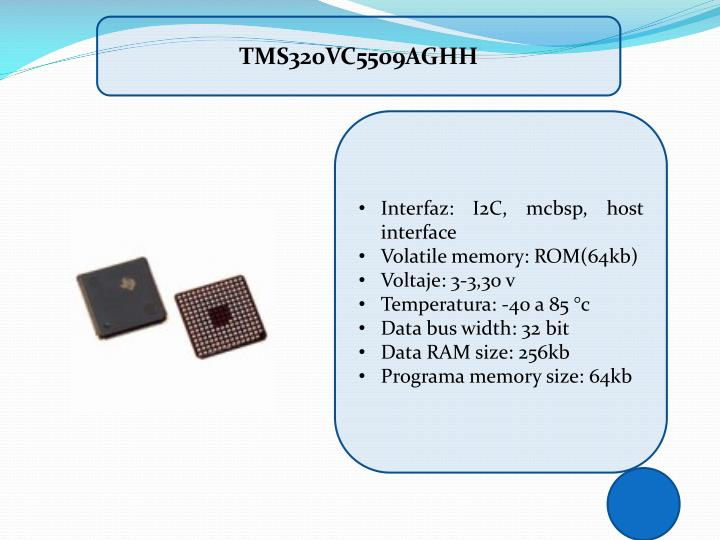 TMS320VC5509AGHH