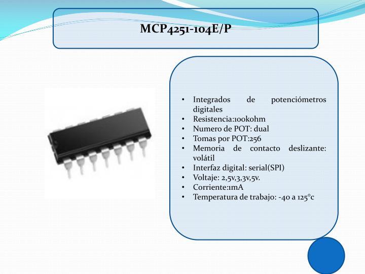 MCP4251-104E/P