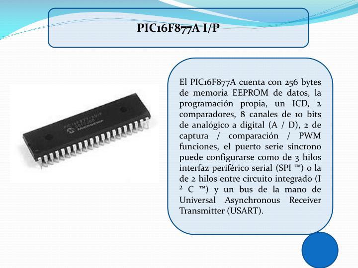 PIC16F877A I/P