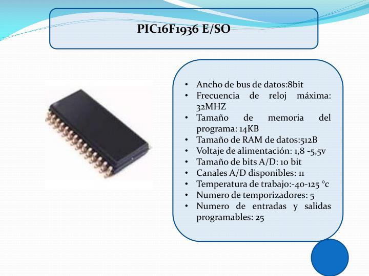 PIC16F1936 E/SO