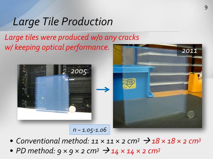 Large Tile Production