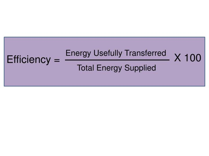 Energy Usefully Transferred