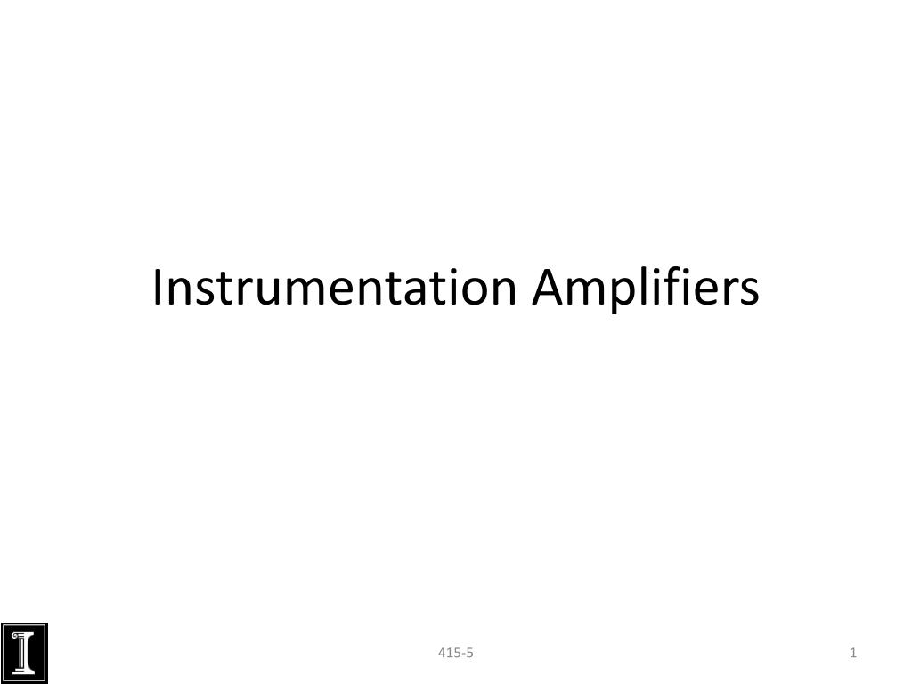 Instrumentation Amplifier With High Common Mode Rejection Circuit