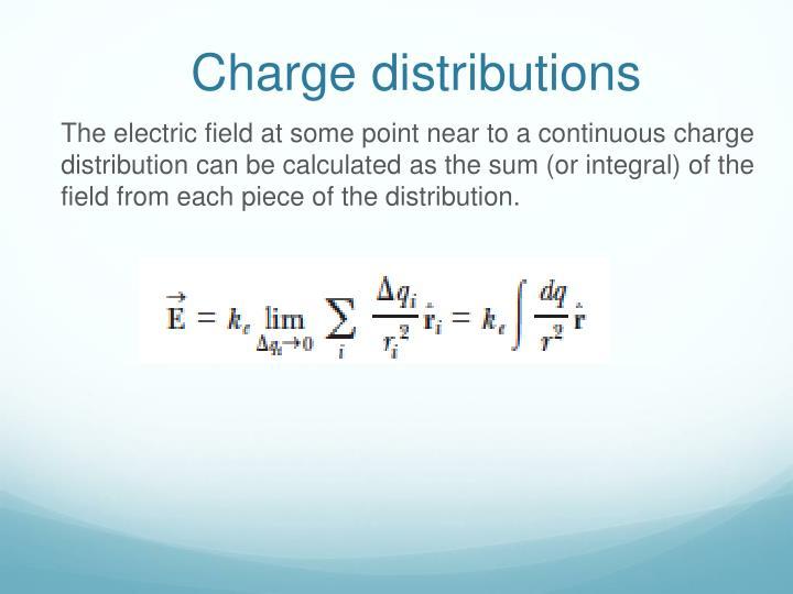 Charge distributions