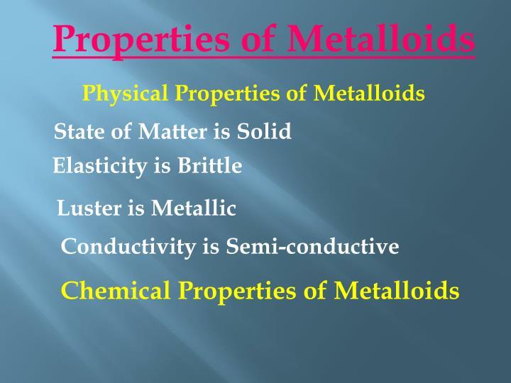 Properties of Metalloids