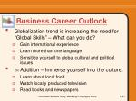 business career outlook