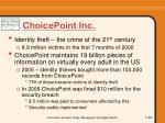 choicepoint inc