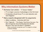 why information systems matter