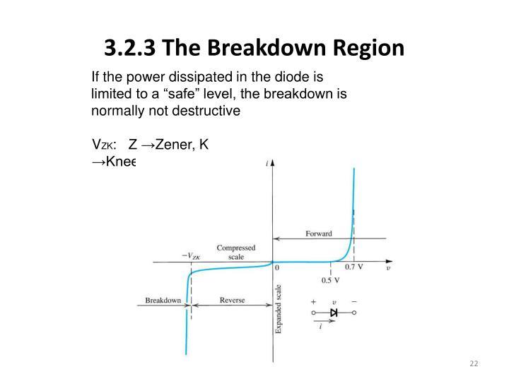 3.2.3 The Breakdown Region